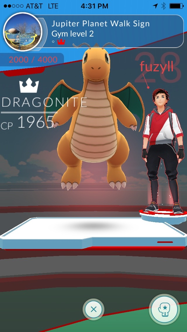 Dragonite at the Jupiter sign